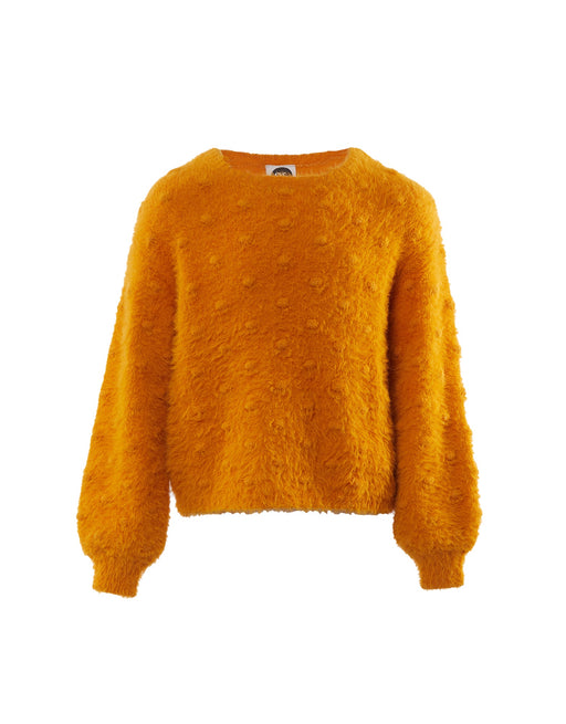 EVE SISTER BOBBLE FLUFFY KNIT MUSTARD