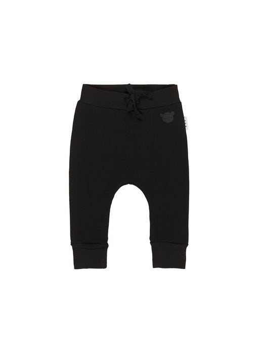 HUXBABY DROP CROTCH PANT BLACK
