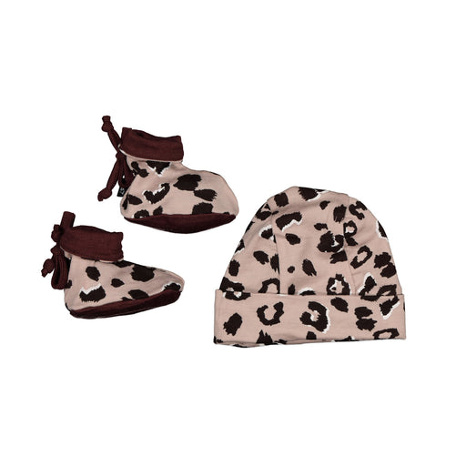 BEANIE AND BOOTIE SET ALL COLORS BLUSH CHEETAH BABY