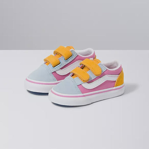 VANS TODDLER OLD SKOOL VELCRO BLOCK COLOUR