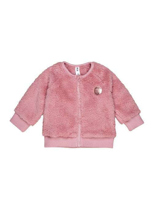 HUXBABY FAUX FUR JACKET DARK ROSE