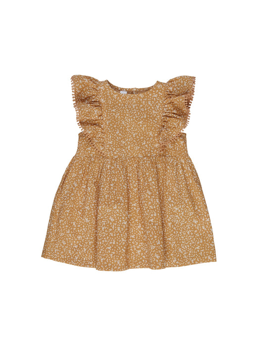 HUXBABY FLORAL AVA DRESS AMBER