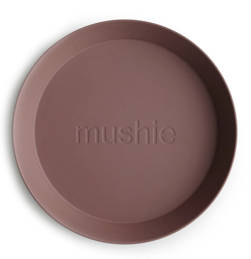 MUSHIE DINNERWARE ROUND PLATE SET OF 2 - WOODCHUCK