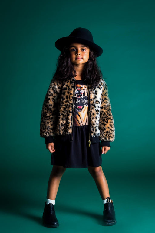 ROCK YOUR KID ANIMAL FAUX FUR JACKET