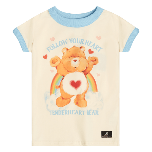 ROCK YOUR KID FOLLOW YOUR HEART RINGER T SHIRT