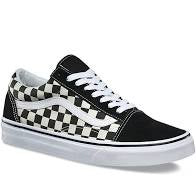 VANS KIDS OLD SKOOL CHECKERBOARD BLACK/WHITE