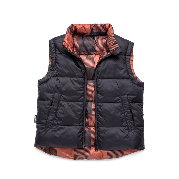 CRYWOLF REVERSIBLE VEST PLAID
