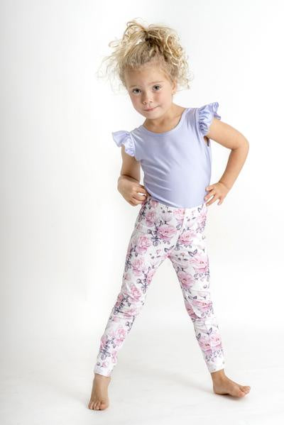 LITTLE HEARTS LEGGINGS - BLUSH ROSE