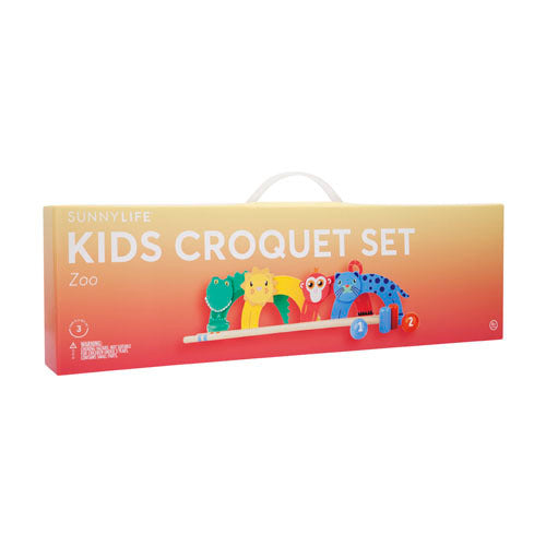 SUNNYLIFE KIDS CROQUET SET ZOO