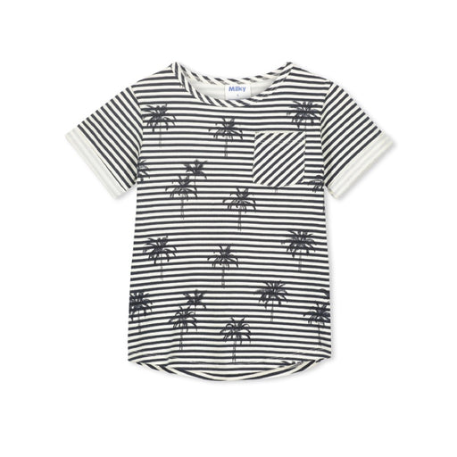 MILKY PALM STRIPE TEE