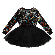 ROCK YOUR KID LONG SLEEVE SEQUIN CIRCUS DRESS MULTI