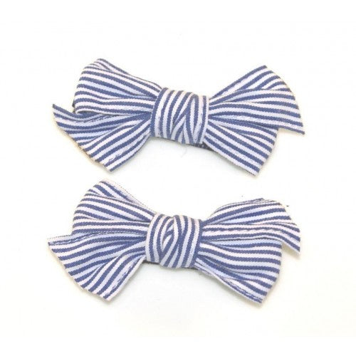 GOODY GUMDROPS STRIPED COTTON BOW CLIPS