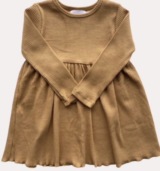 BLUSH BABY RIBBED DRESS - HONEY
