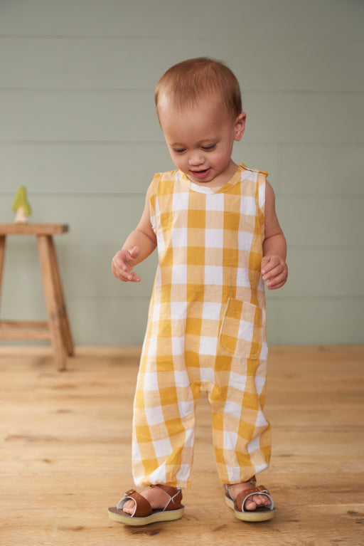 NATURE BABY GINGHAM CEDAR SUIT HONEY CHECK