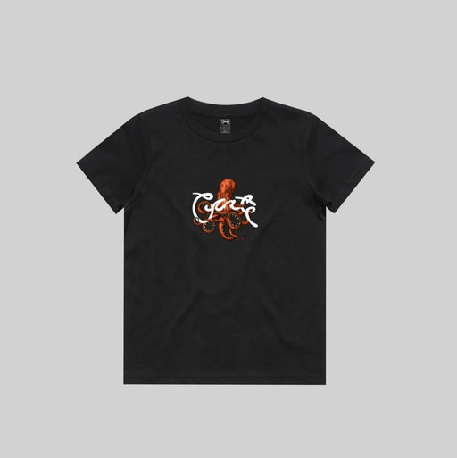 CRATE KIDS OCTOPUS SCRIPT TEE - BLACK