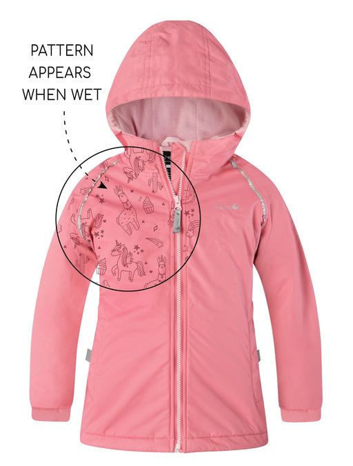 THERM SPLASHMAGIC STORM JACKET GIRLS CAMELLIA PINK