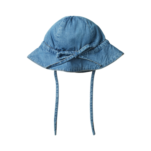 NATURE BABY CHAMBRAY SUNHAT - SKY