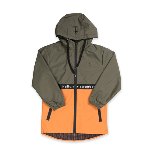 HELLO STRANGER ELECTRIC JUNGLE JACKET KHAKI ORANGE