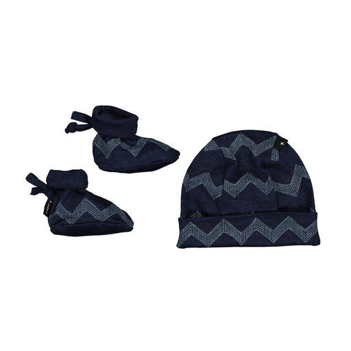 BEANIE AND BOOTIE SET ADMIRAL CHEVRON BABY