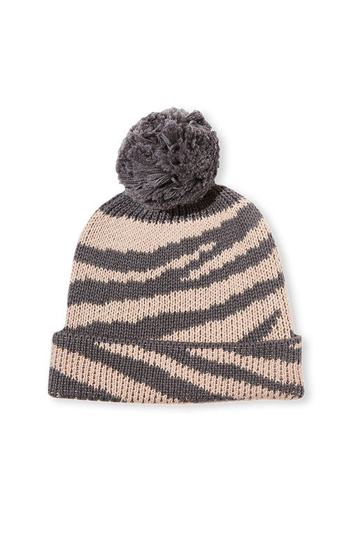 MILKY CHILDS BEANIE NATURAL GREY ANIMAL