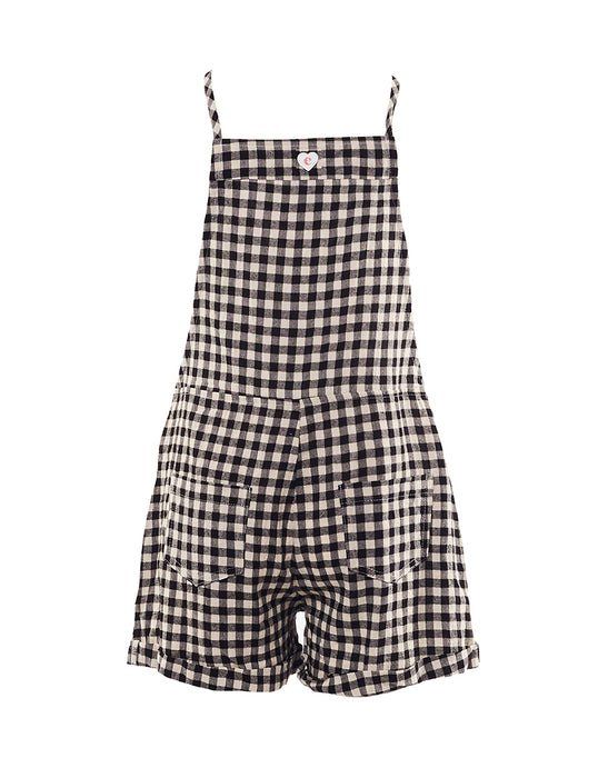 EVE GIRL CHECK OVERALL BLACK WHITE CHECK