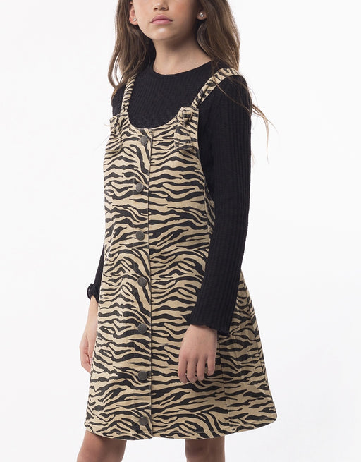 EVE GIRL ZEBRA PINAFORE ZEBRA PRINT