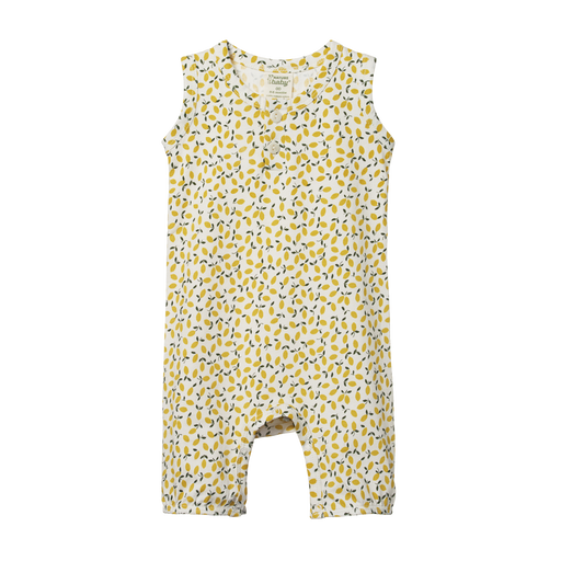 NATURE BABY SUMMER SUIT - LEMMONY PRINT