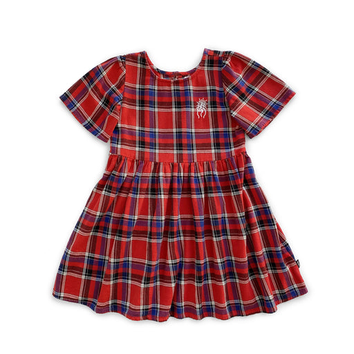 POP FACTORY FLANNO DRESS - RED CHECK
