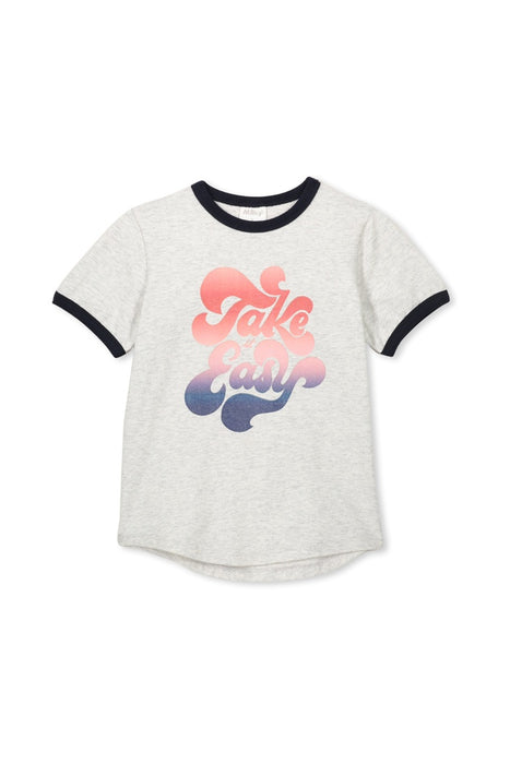 MILKY TAKE IT EASY TEE SILVER MARLE