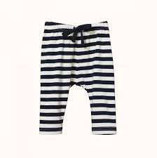 NATURE BABY SUNDAY PANTS - NAVY SEA STRIPE