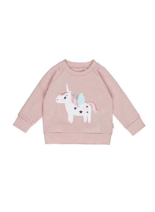 HUXBABY UNICORN SWEATSHIRT BLUSH