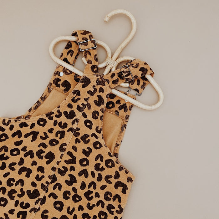 KAPOW KIDS ANIMAL PRINT TERRY TOWELLING PINAFORE