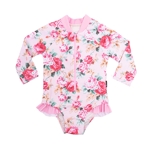ROCK YOUR BABY ROSE ESSENCE L/SLEEVE ONE PIECE
