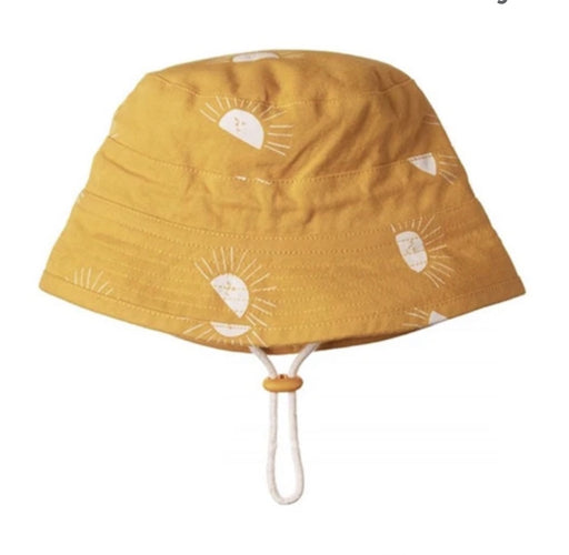 NATURE BABY BUCKET SUNHAT SUNRISE HONEY PRINT