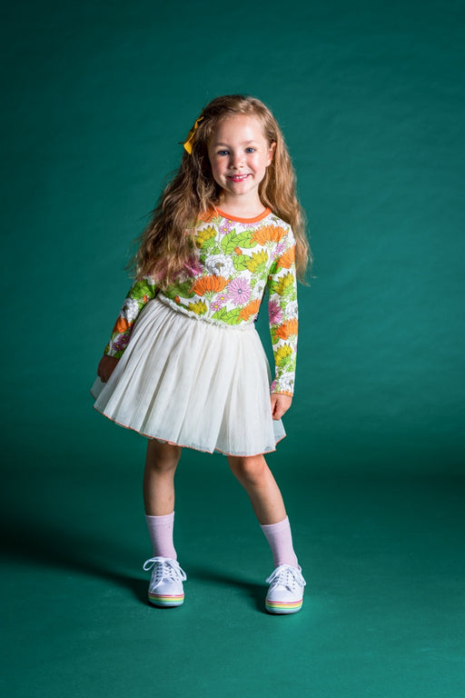 ROCK YOUR KID 70S FLORAL CIRCUS DRESS (PRE ORDER)