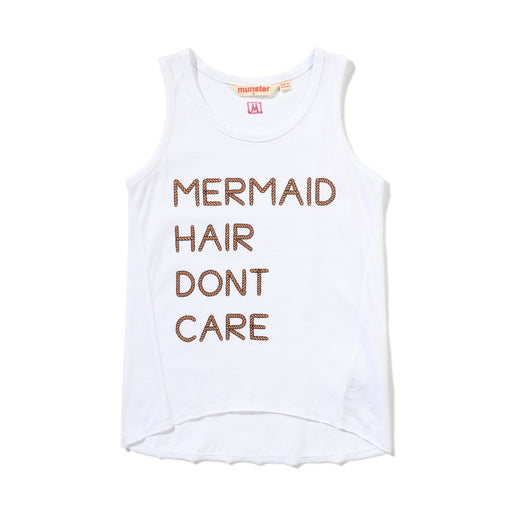 MUNSTER MERMAID TANK WHITE (PRE ORDER)