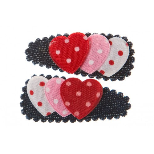 GOODY GUMDROPS DENIM HEARTS MED SNAPS