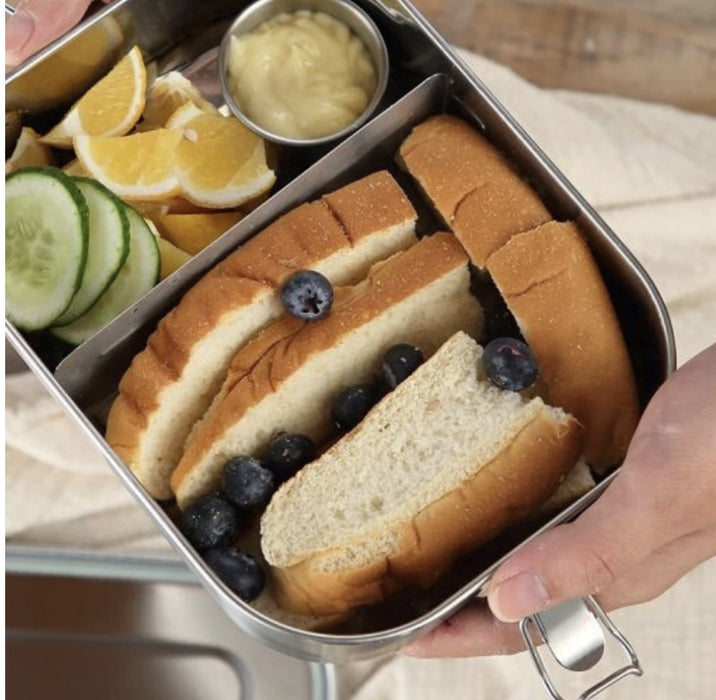 MUNCH STAINLESS STEEL LUNCHBOX - 2 COMPARTMENTS