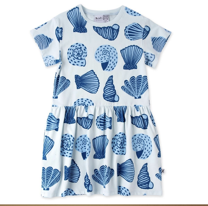 MINTI SEASHELLS DRESS LIGHT BLUE