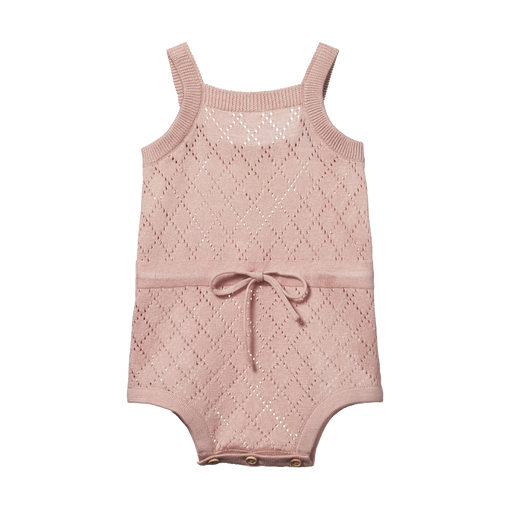 NATURE BABY LOIS SUIT - ROSE BUD DIAMOND PRINT