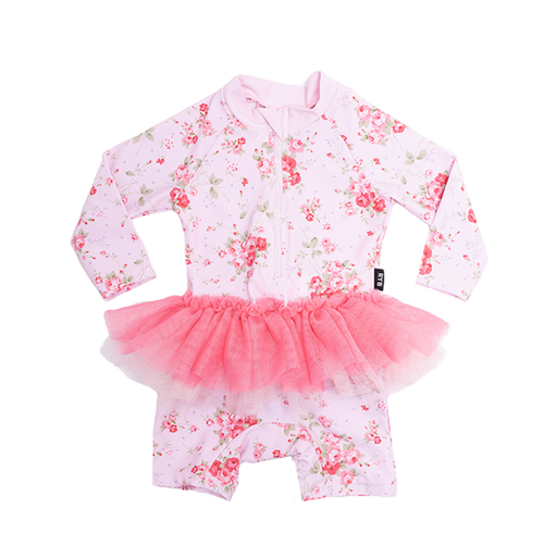 ROCK YOUR BABY SUMMER ROSE L/SLEEVE TULLE ONESIE