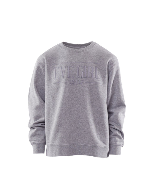 EVE GIRL CREW GREY MARLE