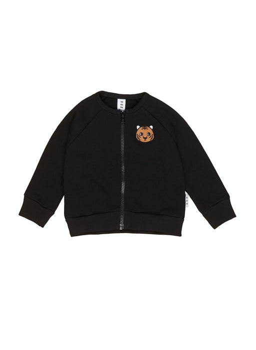 HUXBABY TIGER SWEAT JACKET BLACK
