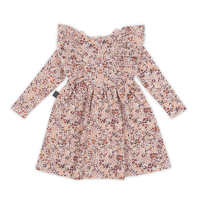 KAPOW KIDS BLOOM II RUFFLE WAISTED DRESS