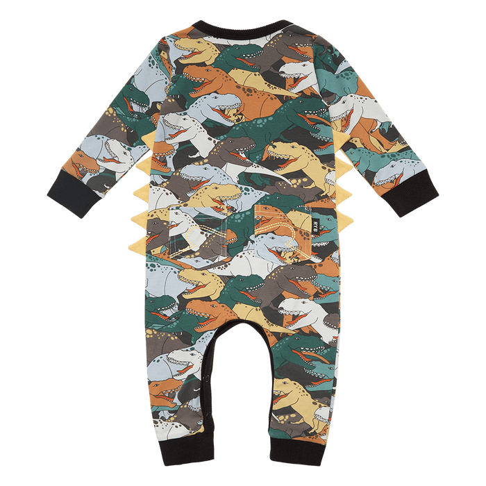 ROCK YOUR BABY DINO STAMPEDE PLAYSUIT MULTI