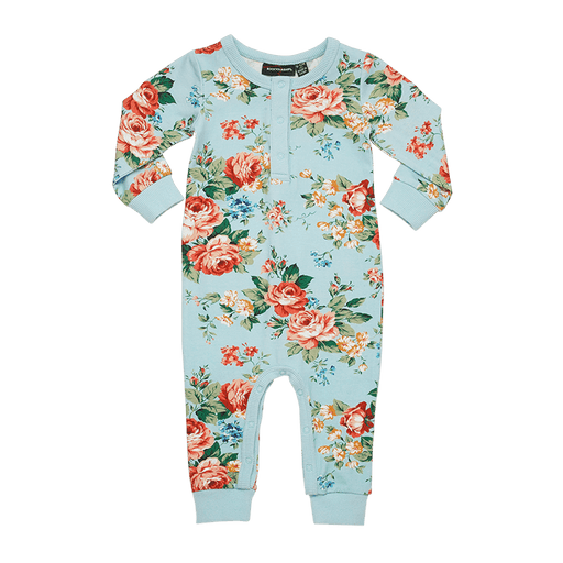 ROCK YOUR BABY LONG SLEEVE FRENCH FLORAL PLAYSUIT (PRE ORDER)