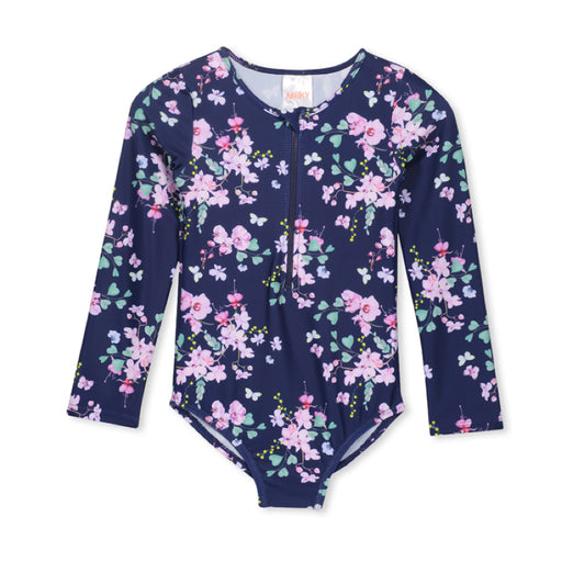 MILKY L/SLEEVE FLORAL SWIMSUIT