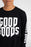 GOOD GOODS LS READY SET TEE DOOM BLACK