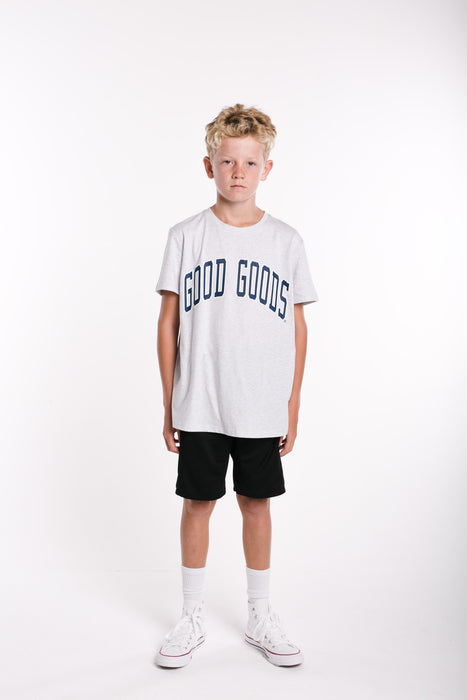 GOOD GOODS READY SET TEE - SILVER MARLE
