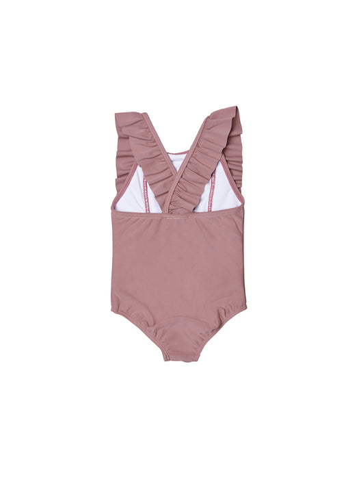HUXBABY BERRY FRILL SWIMSUIT